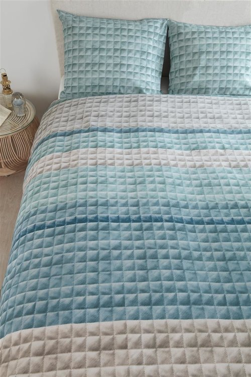 Quilted Squares - Blauw