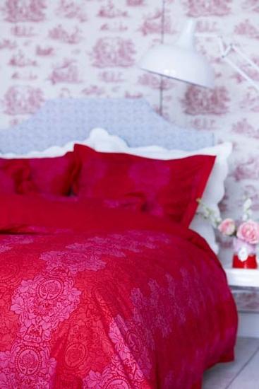 silhouettes story dekbedovertrek pink
